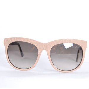 Balenciaga Cream Sunglasses with Pebble Texture